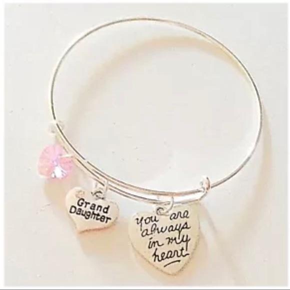 Hanalea Island Jewelry Co. Jewelry - ✨3 for $30✨Grand Daughter🎀 Silver Bangle Bracelet